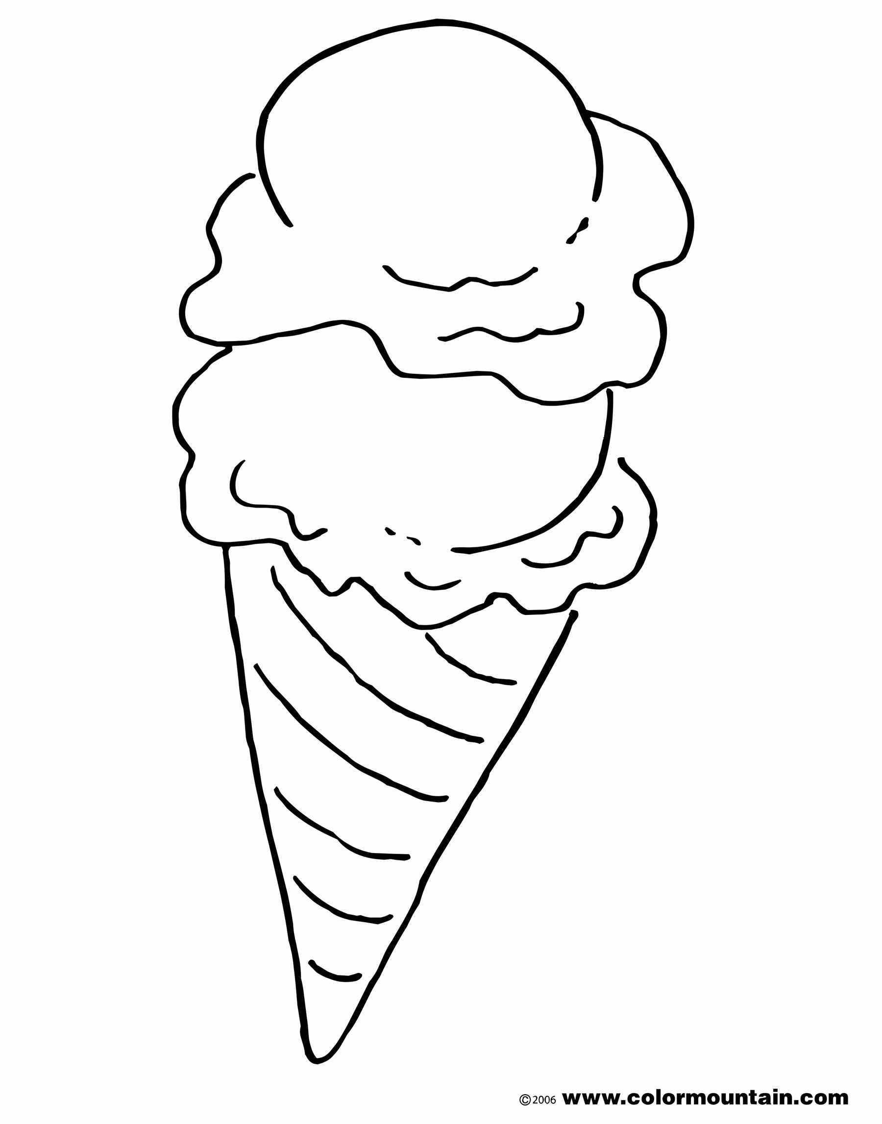 Ice Cream Cone Coloring Pages Affordable Way To Make The Kids