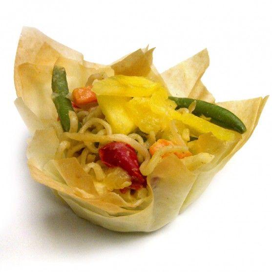 Ground Beef Phyllo Recipe: Thai-inspired Vegetarian Phyllo Baskets #freshlyblogged