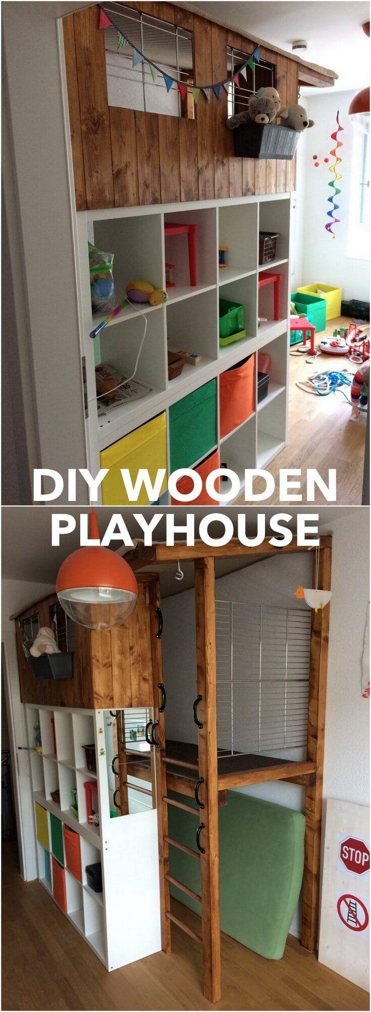 kallax wooden playhouse: kids adventure castle http://www