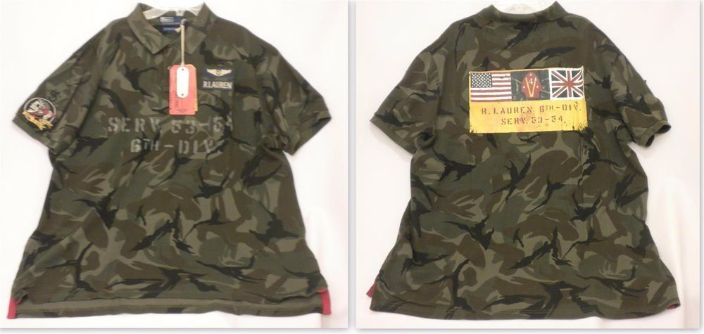 5a7a8a4e3d New Ralph Lauren The Military Polo Shirt Limited Edition  5 Camo Green Mens  XXL  PoloRalphLauren  PoloRugby