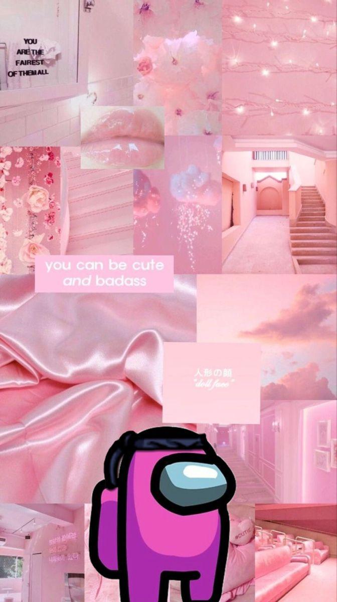 Among Us Iphone Wallpaper Tumblr Aesthetic Aesthetic Iphone Wallpaper Pink Wallpaper Iphone