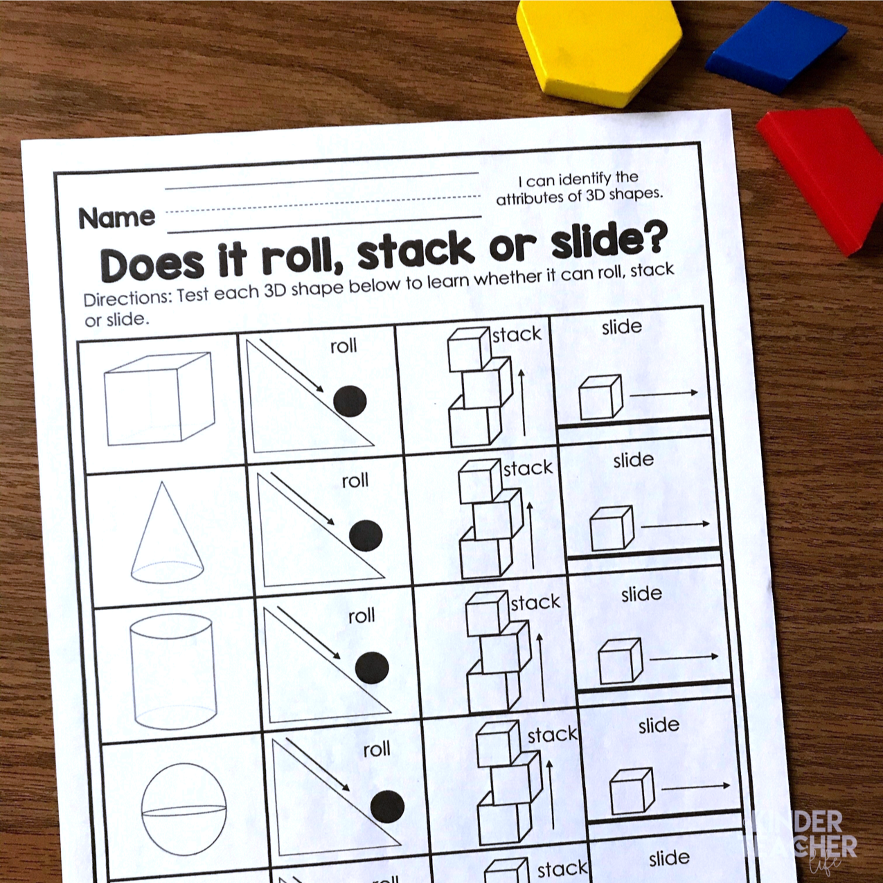 2D and 3D Shapes Activities Updated!   Shape activities kindergarten [ 1275 x 1275 Pixel ]