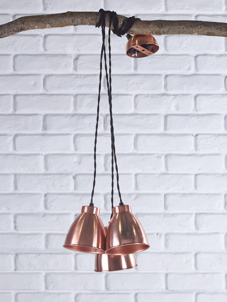 trinske triple pendant copper cox cox fantastic. Black Bedroom Furniture Sets. Home Design Ideas