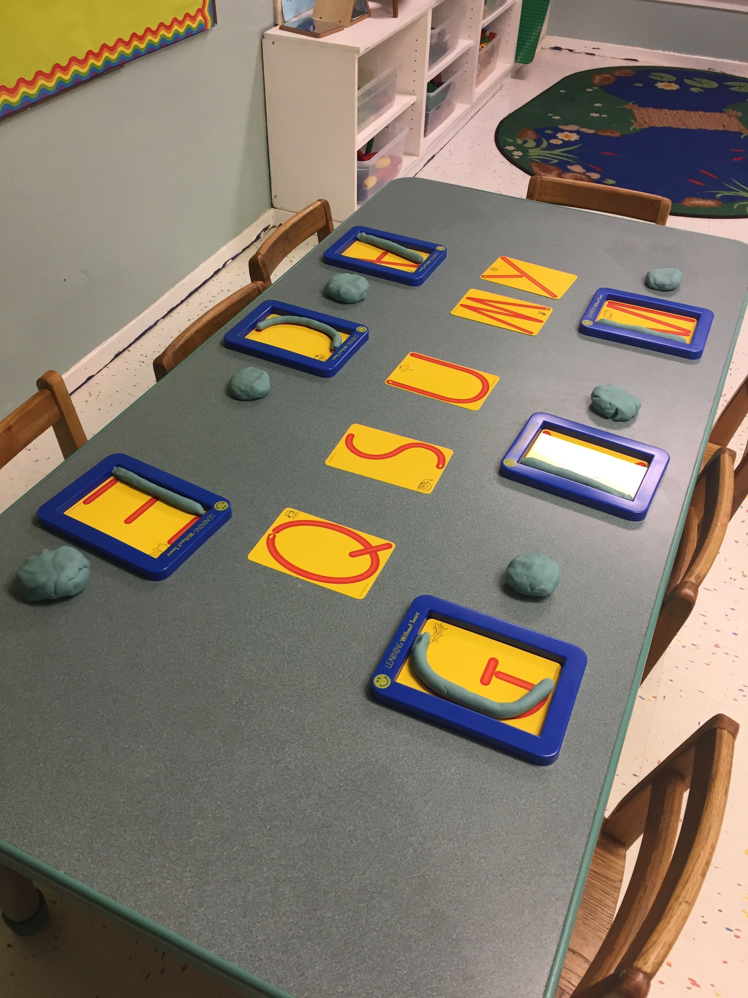 Playdough With Handwriting Without Tears Trays And Letter