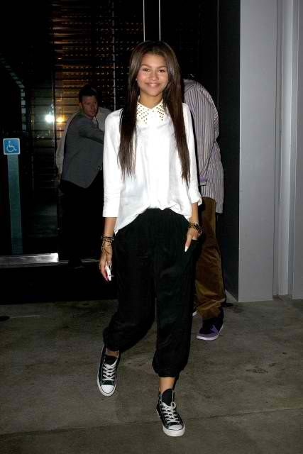 Zendaya and Converse Chuck Taylor All Star Canvas High Top Sneakers  Photograph 387af80e0
