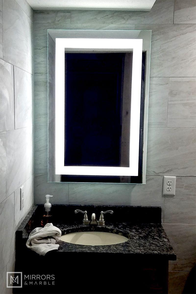 Front Lighted Led Bathroom Vanity Mirror 24 Mirrors And Marble Mirror Bathroom Vanity Mirror [ 1200 x 800 Pixel ]