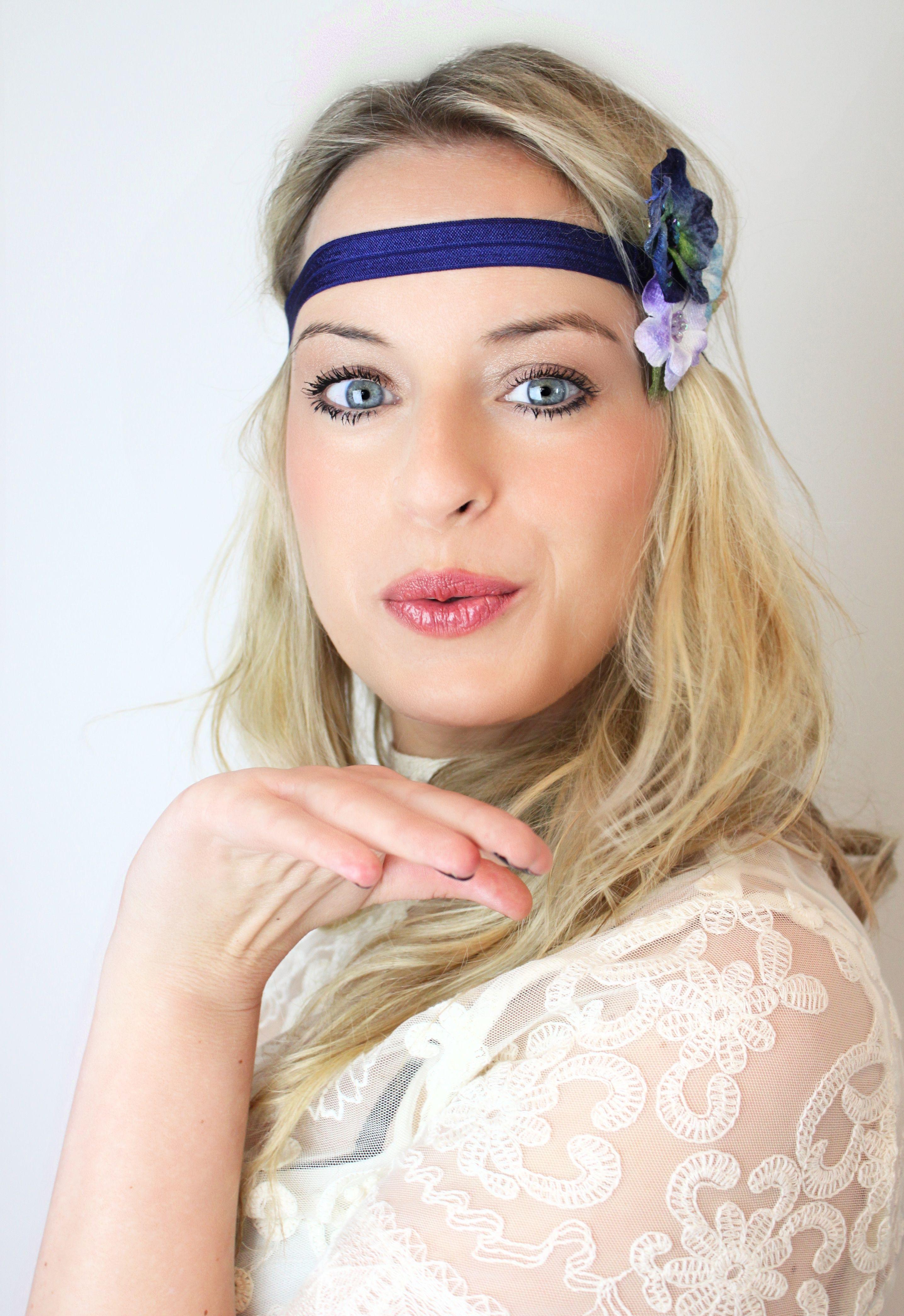 Boho Haarband Indie Go Mit Blütenclip Haarband Blüte Blumen