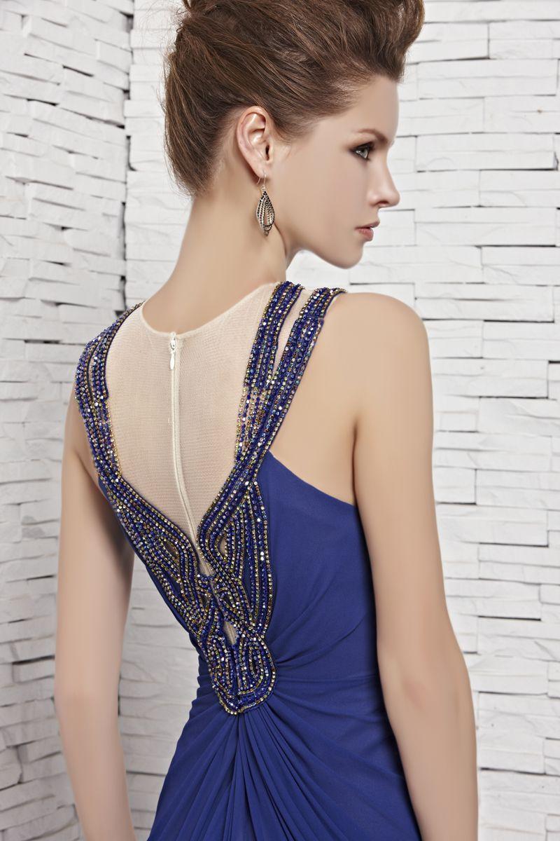 Coniefox royal blue elegant formal dress royal blue elegant