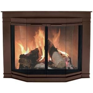Pleasant Hearth Glacier Bay Small Glass Fireplace Doors Gl 7700 At The Home Depot Fireplace Glass Doors Fireplace Doors Masonry Fireplace