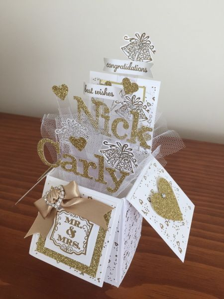 Stampin Connection Exploding Box Card Wedding Cards Handmade Pop Up Box Cards Pop up wedding cards