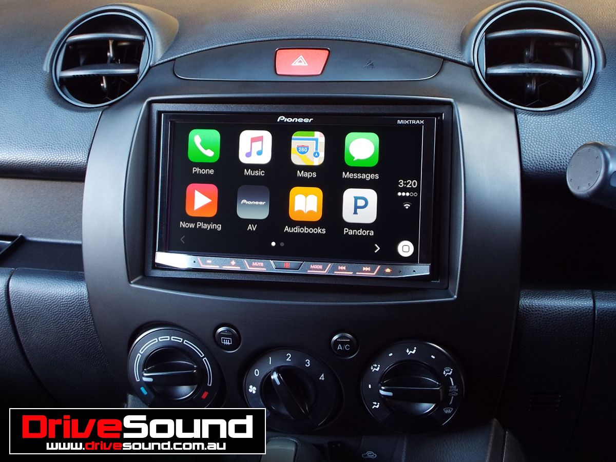 mazda 2 with apple carplay installed by drivesound. Black Bedroom Furniture Sets. Home Design Ideas