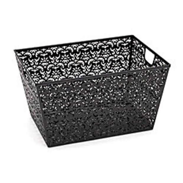 Realspace Brocade Storage Basket Black By Office Depot