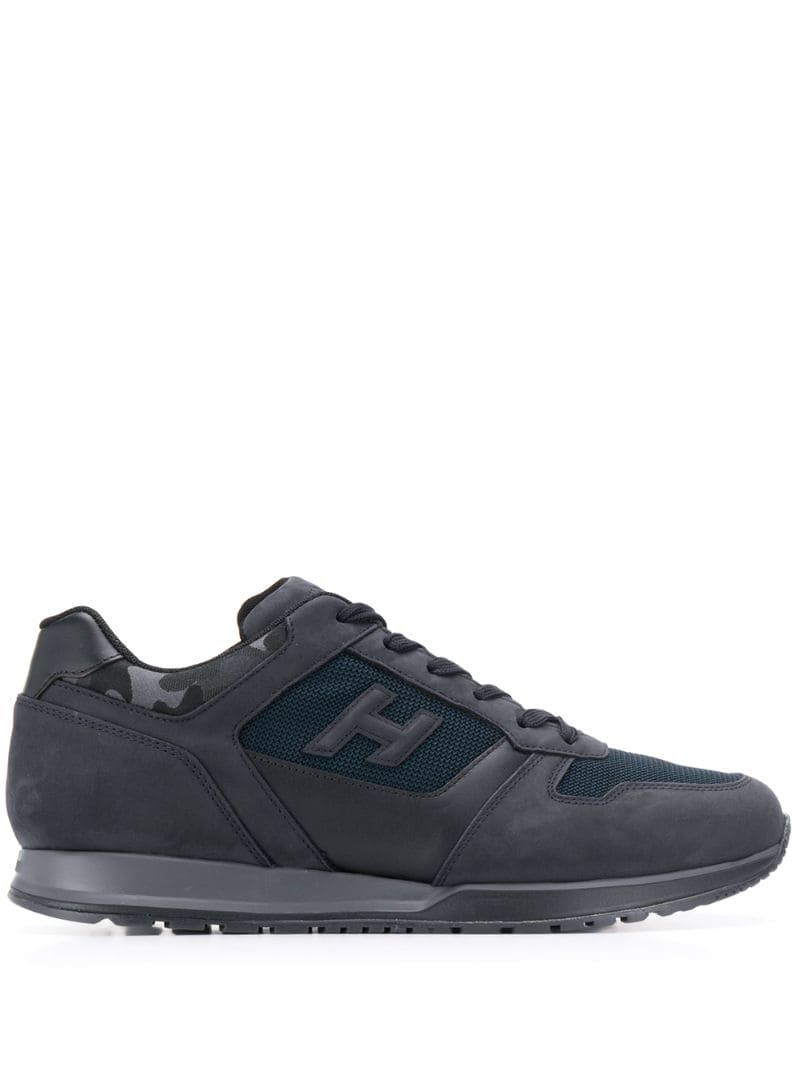 Hogan Panelled Sneakers - Farfetch