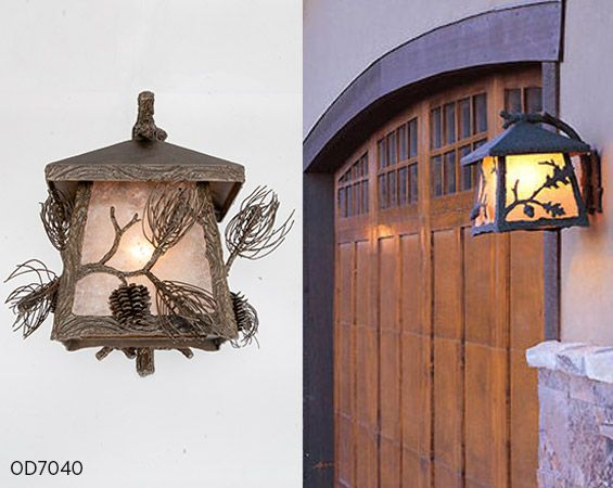This Box Style Log Timber Outdoor Light Fixture Incorporates Beautifully Organic Motifs And Textur Outdoor Light Fixtures Light Decorations Exterior Lighting