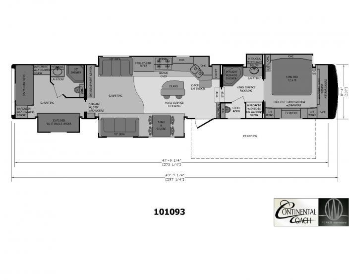 quad bunk travel trailer floor plan - Google Search   Dream Home ...