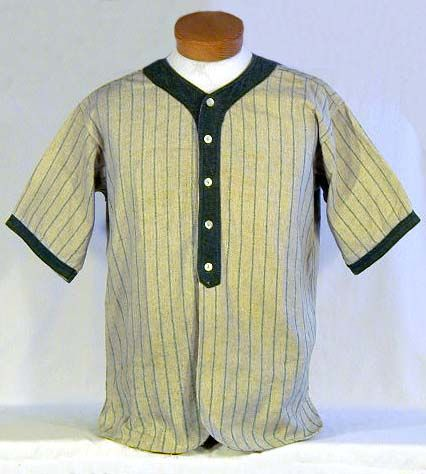 1920 s Vintage Baseball Jersey. This wonderful vintage baseball jersey  features an uncommon color combination of dark green and gray. 71de99544