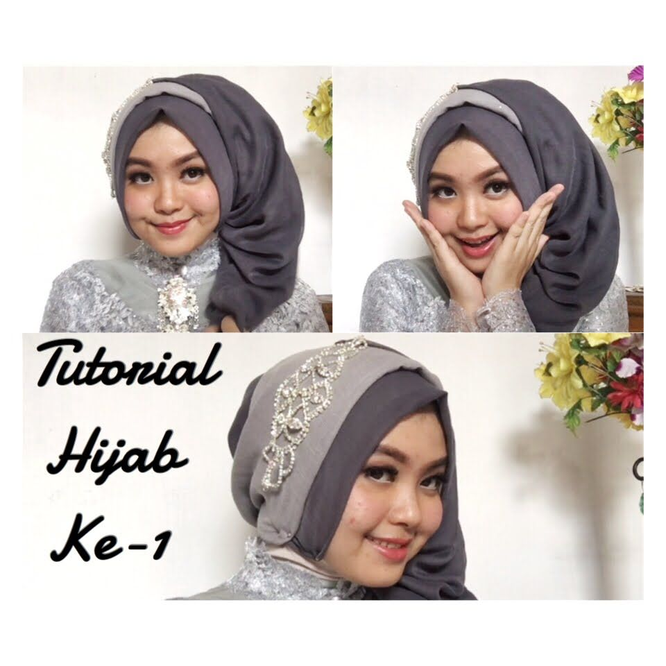 Tutorial Hijab Pesta Simple Segi Empat Modern Terbaru 2016 Hijab