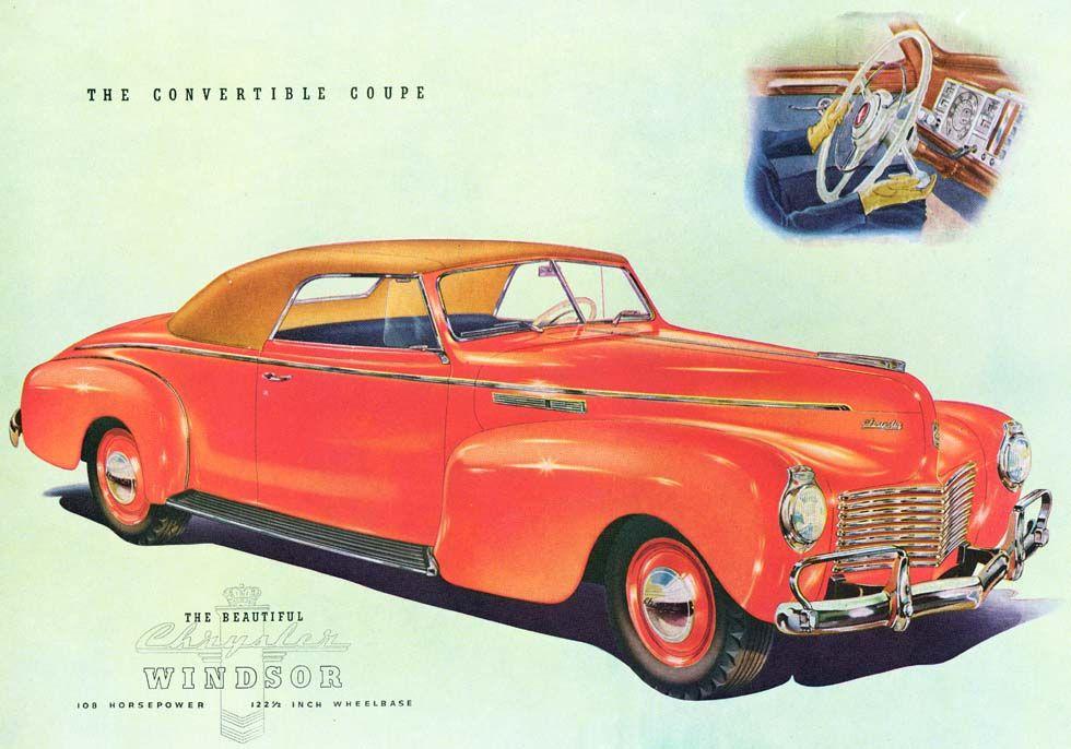 1940 Chrysler Windsor Convertible Coupe | Chrysler: 1940 - 1946 ...
