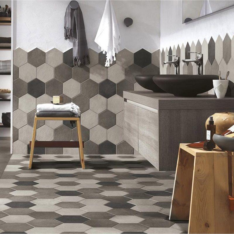 carrelage sol et mur anthracite effet b ton time carrelage leroy merlin en 2019 leroy merlin. Black Bedroom Furniture Sets. Home Design Ideas