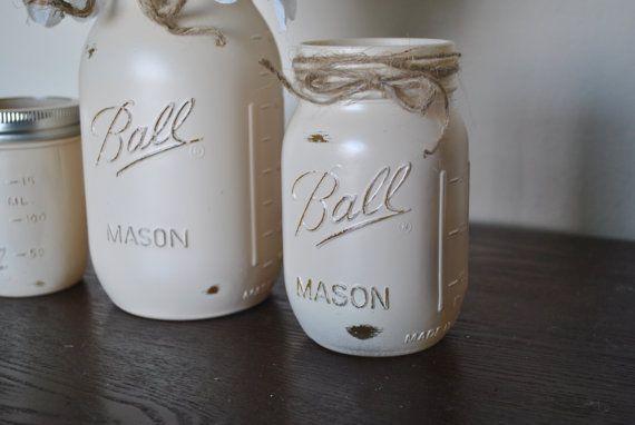 Mason Jar Set Mason Jar Vanity Set Mason by HendersonHouseCreate