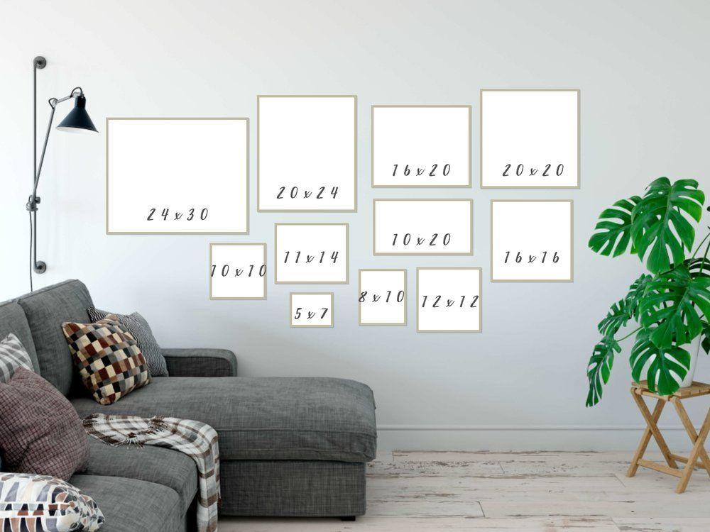 Frame Sizes Displayed and Explained Frame, Frame sizes