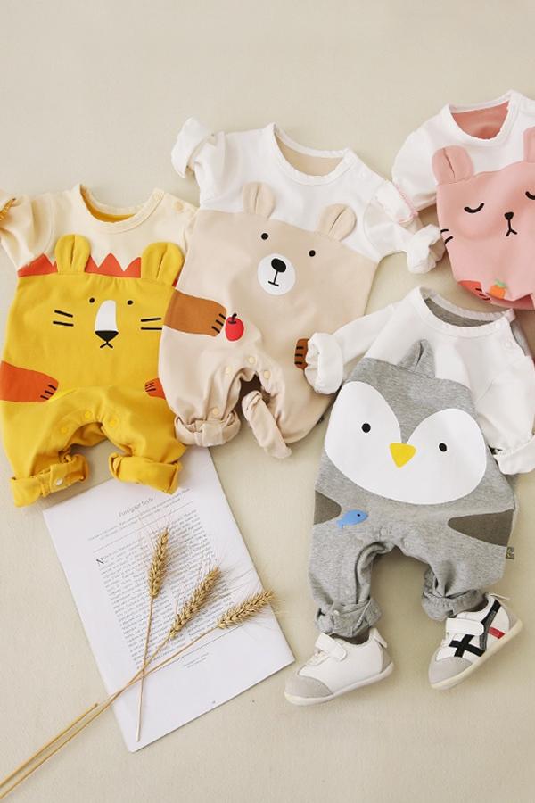 Newborn Kids Baby Infant Cartoon Romper Jumpsuit Bodysuit Outfit Clothes Cute