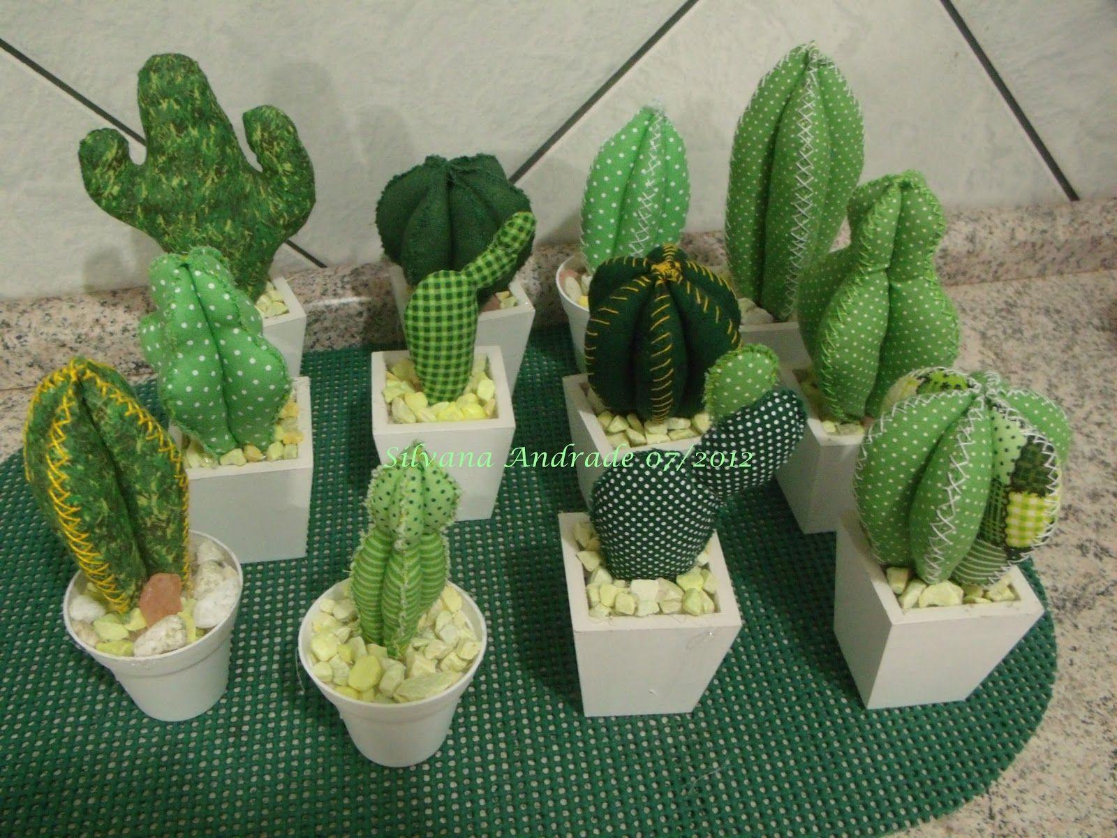 Cactus Arredamento ~ Ponto cruz da lz feltro flores cactos felt cactus