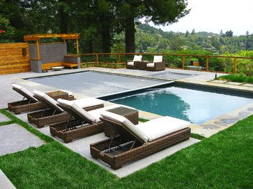 Pool Cover Pool Landscape Design Pool Patio Rectangle Pool
