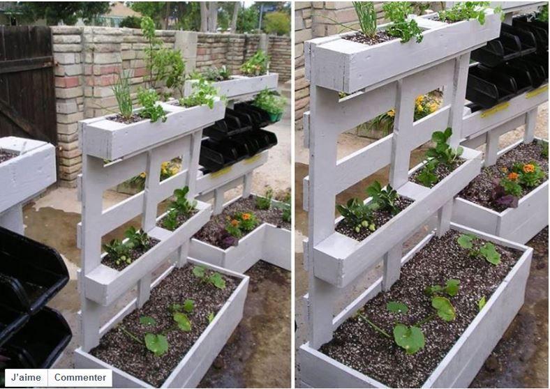 diy r cup palettes bac fleur palnte balcon terrasse jardin. Black Bedroom Furniture Sets. Home Design Ideas