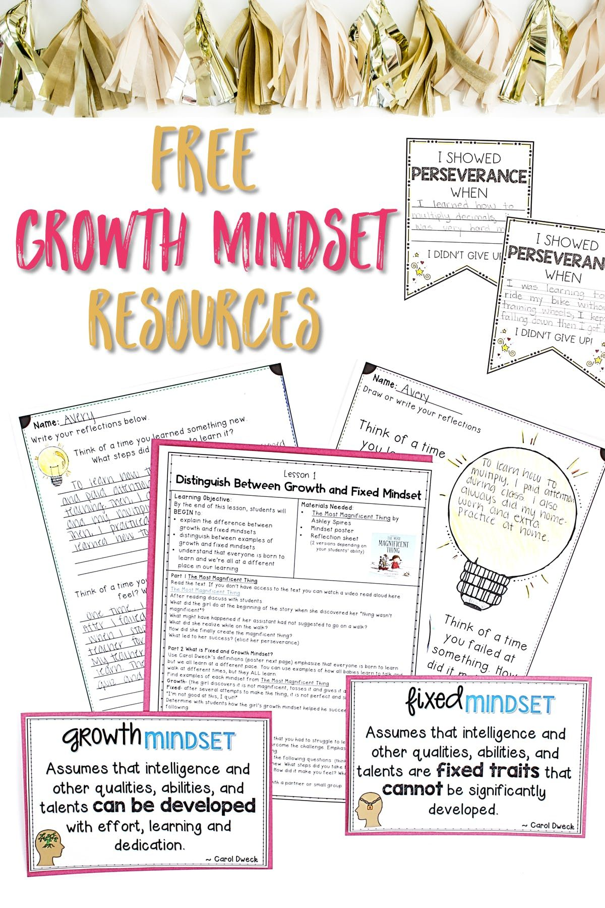 Growth Mindset Teaching Ideas And Free Resources In