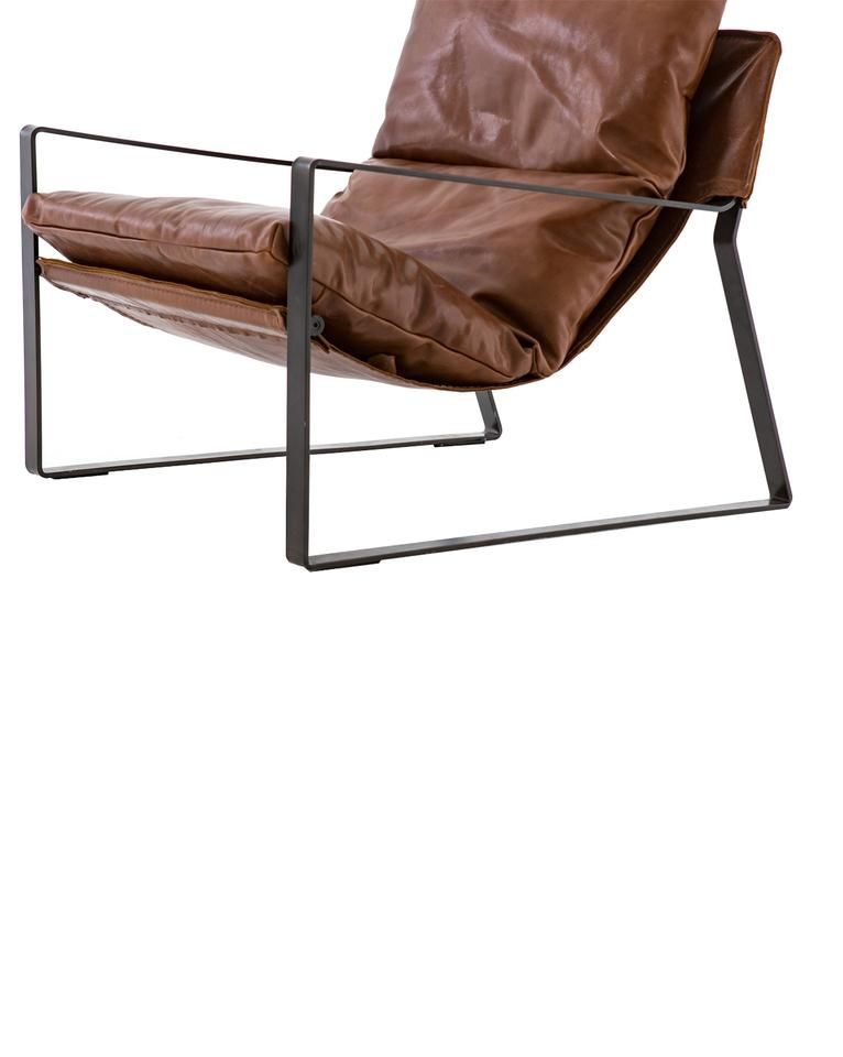 Peyton Chair Tobacco Amp Gunmetal Leather Bean Bag Chair