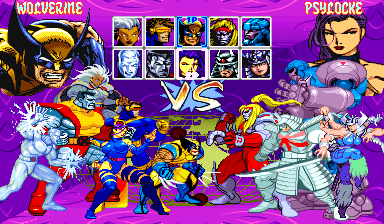 X Men Children Of The Atom Euro 950105 Rom For Mame X Men Fighting Games Retro Gaming