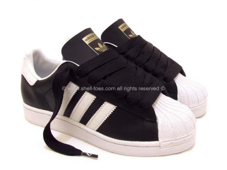 Black Adidas Superstars