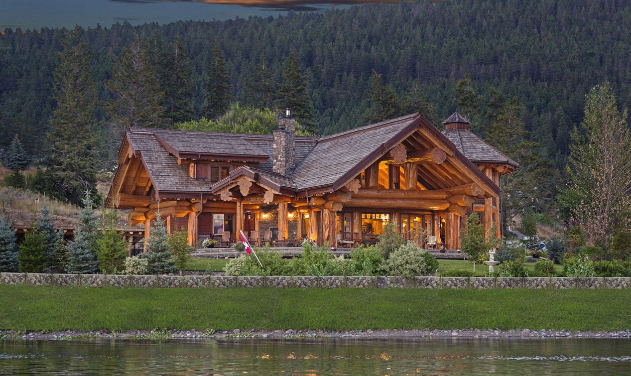 pioneer log homes log cabins the timber kings for the home pinterest. Black Bedroom Furniture Sets. Home Design Ideas