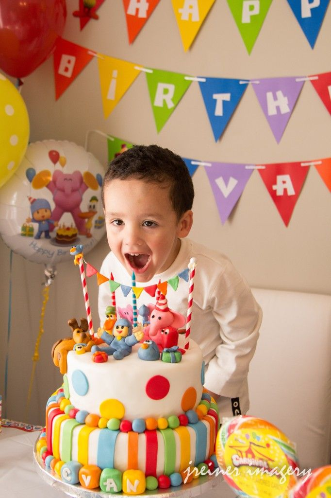Kids Boy Son Birthday Pocoyo Party Celebration Toddler Photography Event
