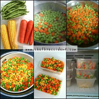 Membuat Frozen Mix Vegetables Sayuran Makanan Masakan