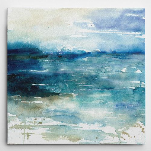 Found It At Wayfair Ocean Break I By Carol Robinson Painting Print On Wrapped Canvas Abstract Canvas Painting Large Canvas Art Sea Wall Art