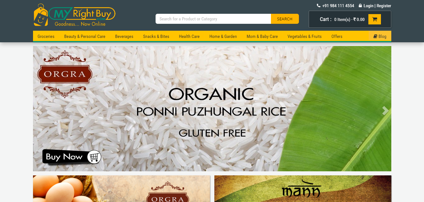 Chennai Online Groceries MyRightBuy is India's largest