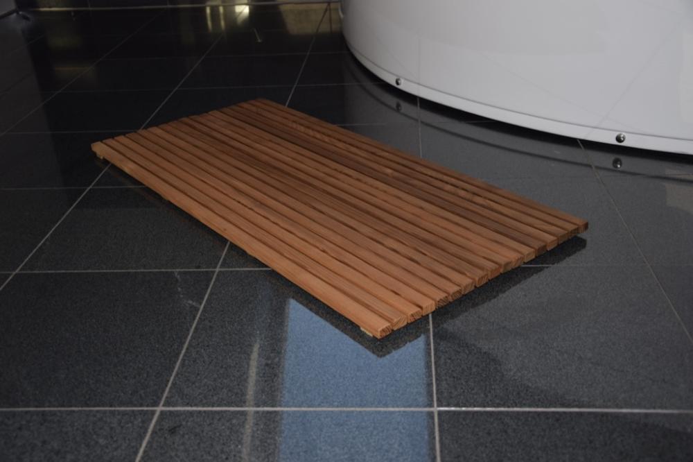 Mata Lazienkowa Drewniana 90x50cm Drewdecor Home Kitchen