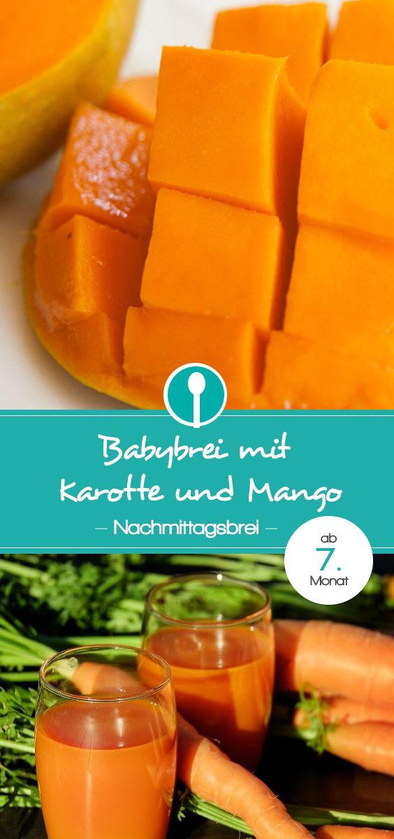 babybrei mit karotte und mango rezept babybrei und beikost rezepte und tipps pinterest. Black Bedroom Furniture Sets. Home Design Ideas