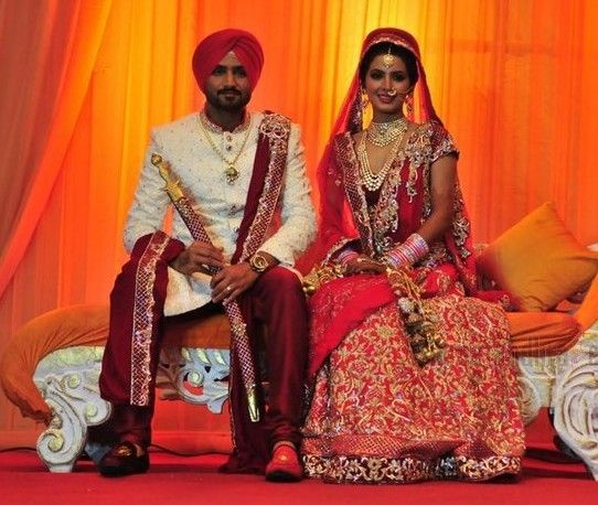 Harbhajan Singh Geeta Basra Wedding Celebrity Weddings Groom Looks Wedding Photos