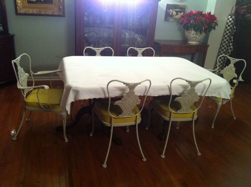 woodard tianon 6 chairs 2 arm 4 side offered on ebay for vintage patio iron