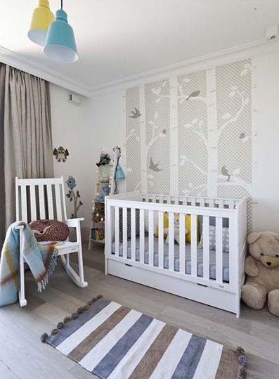 Modern Cot Bed Convertible To Toddler Available In White Or Pearl