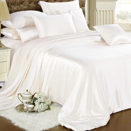 25 Momme Ivory Silk Duvet Cover Set Silk Duvet Cover Bed Linens Luxury Silk Bedding