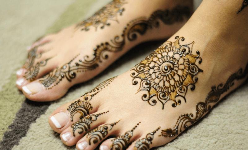 Motif Desain Henna Kaki Keren Desain Henna Henna Inai