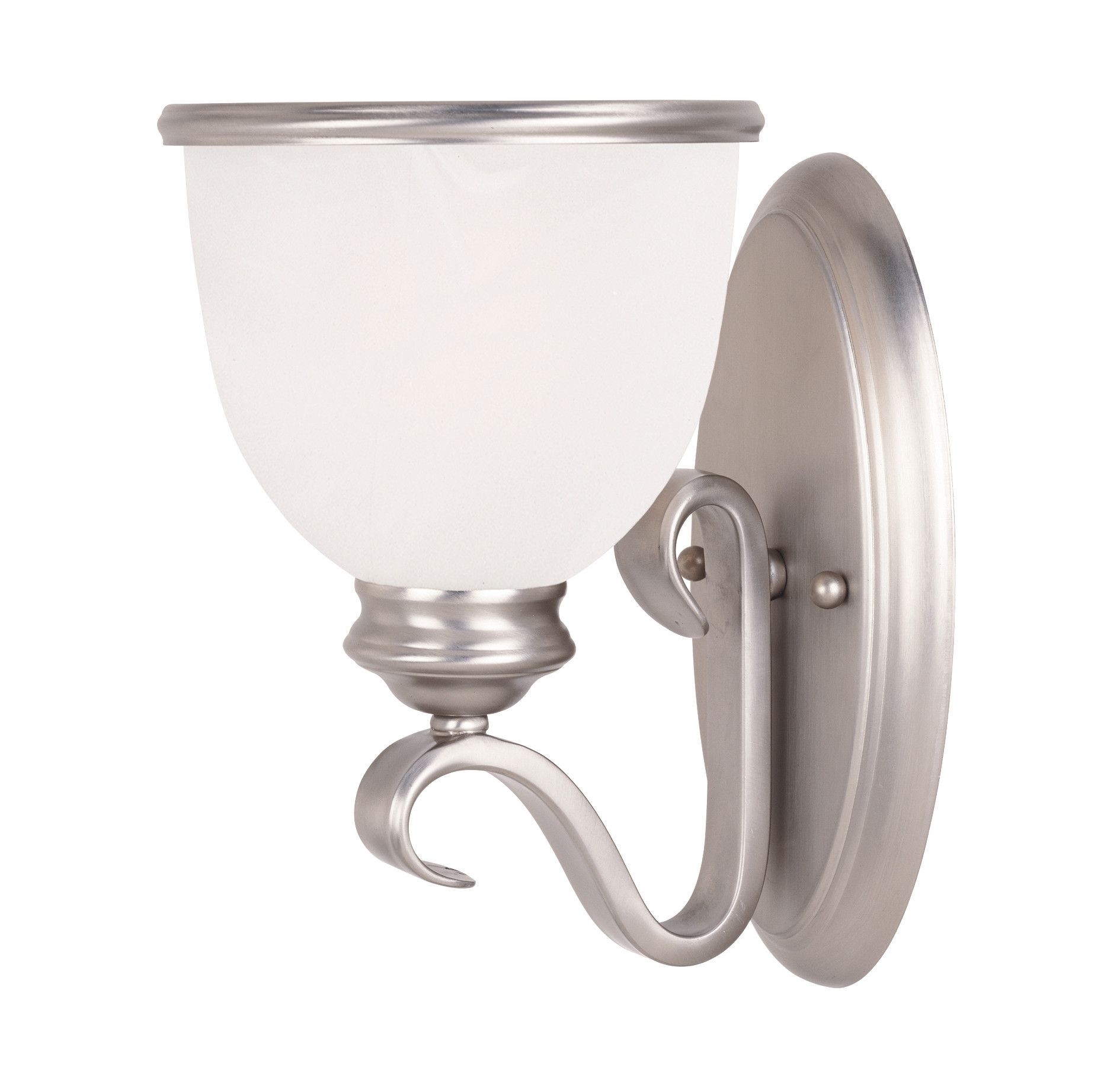 Willoughby 1-Light Wall Sconce in Pewter