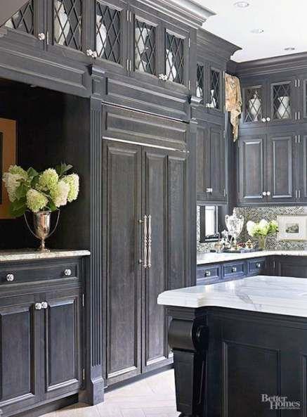 trendy kitchen cabinets dark wood glass doors ideas kitchen cabinet crown molding cottage on kitchen cabinets with glass doors on top id=56575