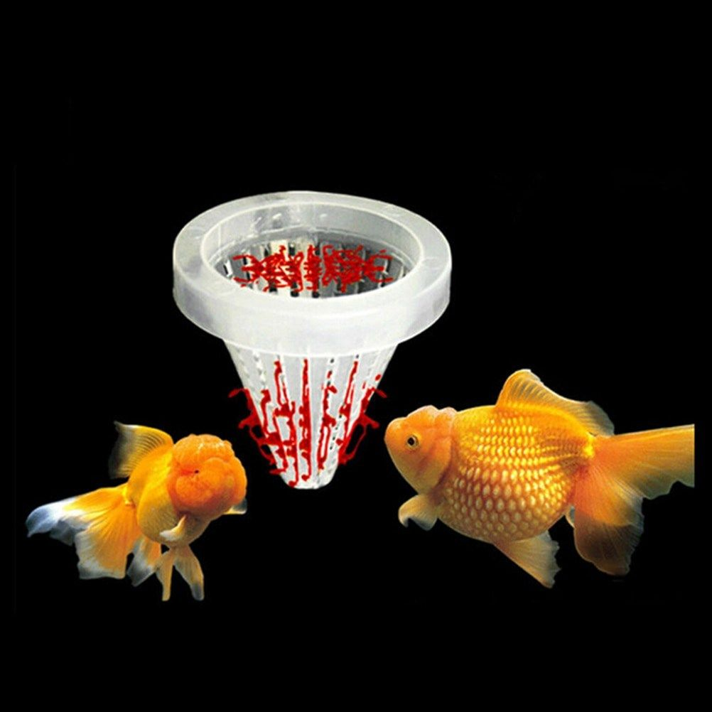 Height 6 7cm Aquarium Basket Feeder Fish Food Live Worm Bloodworm Angel Cone Feed Tool Dia 6 8cm Coupon Top Fish Feed Fish Live Worms