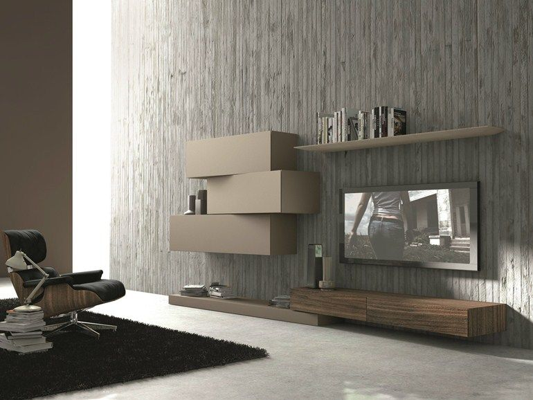 SECTIONAL WALL-MOUNTED TV WALL SYSTEM INCLINART - 263 | PRESOTTO ...