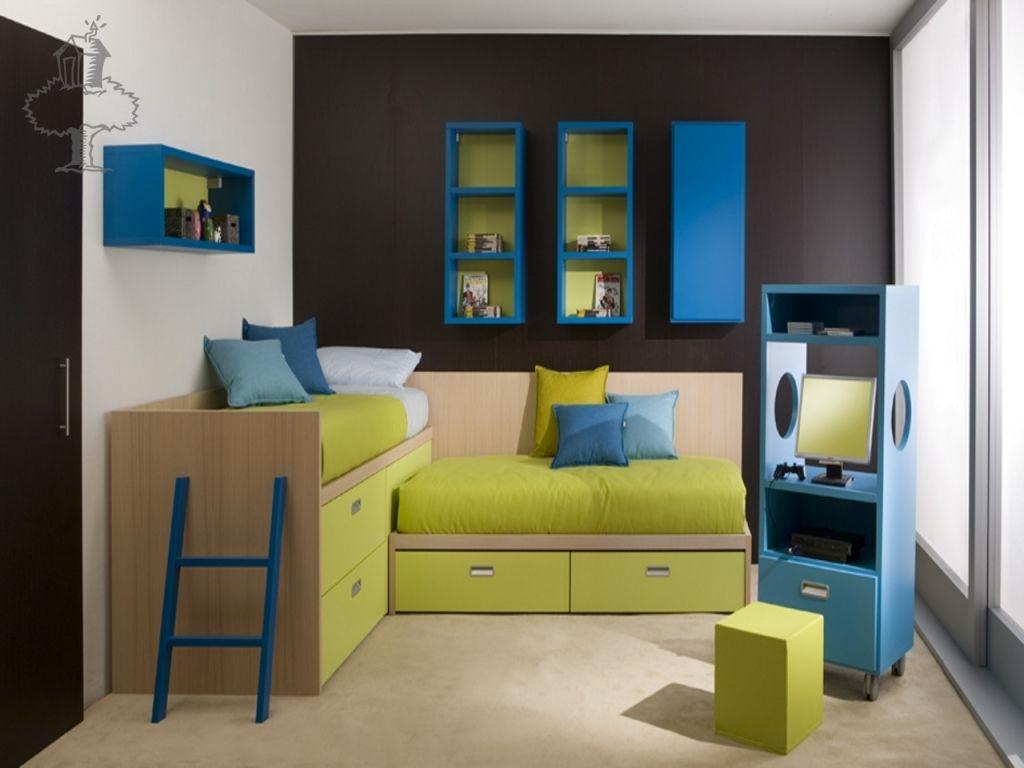 Attractive Kids Bedroom, Dearkids: Active And Attractive Kids Room Designs: Comfort  Green And Yellow Kidu0027s Room Design Good Looking